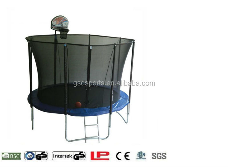 Trampoline basketball hoop from GSD