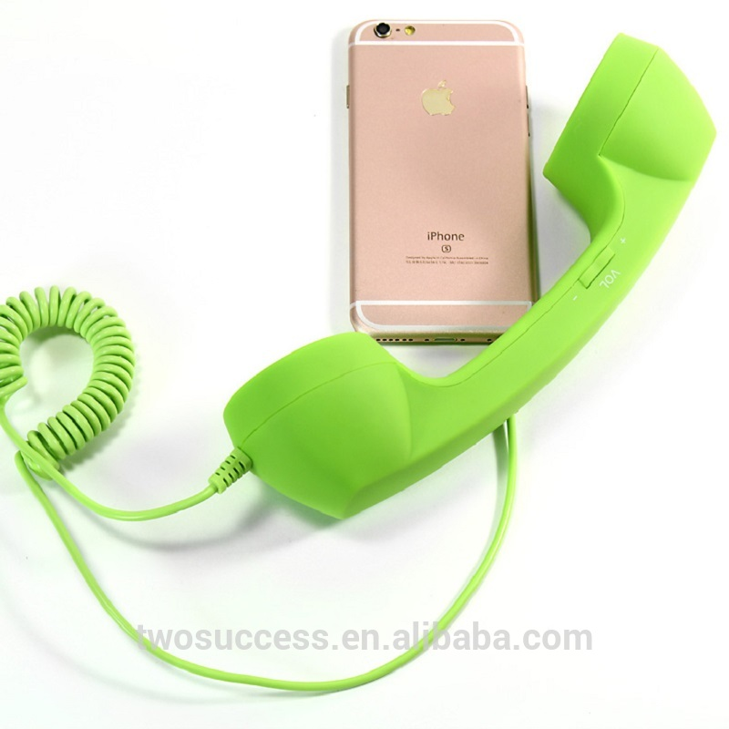 Fashion Retro Anti-radiation Telephone Phone Handset Receiver Devices For Mobiles