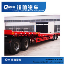 Factory price double axle gooseneck flatbed truck trailer sale