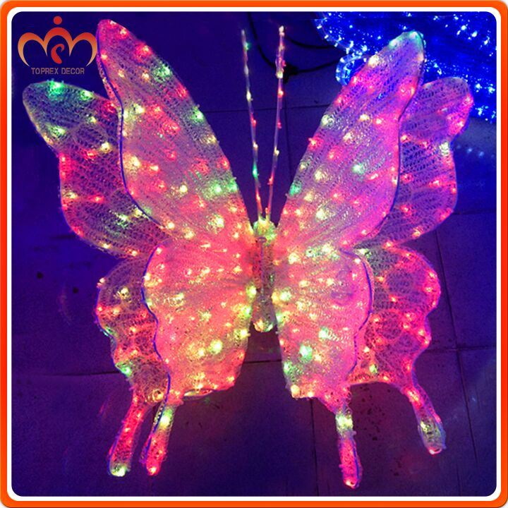 Best holiday decorations h:52cm w:82cm artificial flying butterfly
