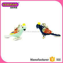 2017 High quality design bird charm boosin colorful parrot pendant