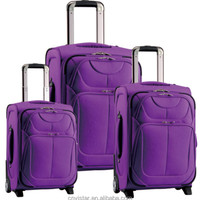 Ramie Material Trolley Luggage Suitcase Bag