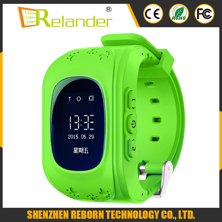 Multi-functional Q50 GPS+LBS+AGPS location tracker SOS pedometer kid security watch
