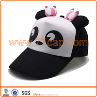 2016 OEM Fashion Cute Children Cartoon Figure Hats Animal caps Panda Hats with Eears