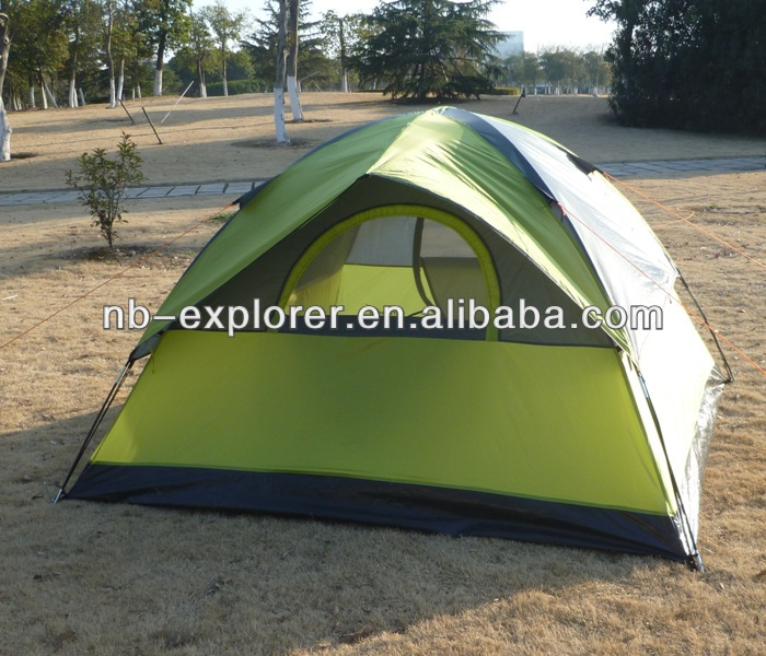 waterproof camping tent for 3 person / 3 person dome tent