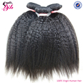 Hot selling kinky straight raw unprocessed virgin peruvian hair