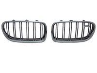 Silver ABS Auto Body Kit Car Grill For BMW F10 2014up
