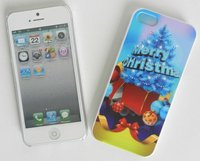 NEW embossment Christmas mobile case for iphone5