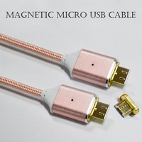 Hot selling strong magnetic charging 2nd generation nylon braided micro USB cable for android