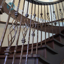 casting decorative wrought iron fence parts staircase handrail metal casting spiral stairs