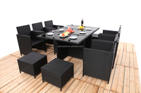 garden ridge outdoor rattan cube furniture set for dining