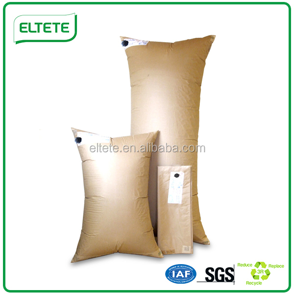 Brown air container cushion dunnage bag for stuff void