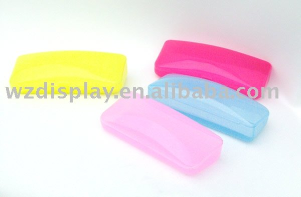 PVC eyeglasses cases;plastic eyewear cases;spectacles boxes