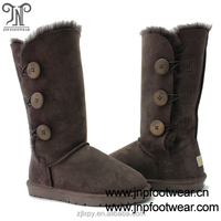 1873 chocolate three buttons winter Australian boots for women