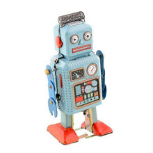 Funny Clockwork Spring Wind Up Plastic Walking Action Robot Toys/Custom Retro Mechanical Children's Action Toy Gift Manufacturer