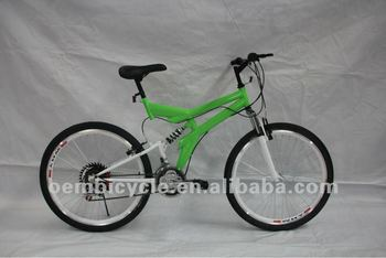 26 inch all green color 18speed hot sale mountain bike