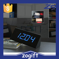 ZOGIFT HOT digital clock home decor LED clcok fashion wood clock table clock with high quality