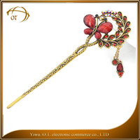 Female butterfly hair accessory vintage women hair sticks