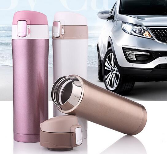 Top quality eco-friendly double wall Insulated 304 stainless steel tube bottle travel coffee mugs thermos flask vacuum cups