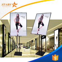 Hot Selling Stainless Steel Poster Display Standee Rotating Banner Stand