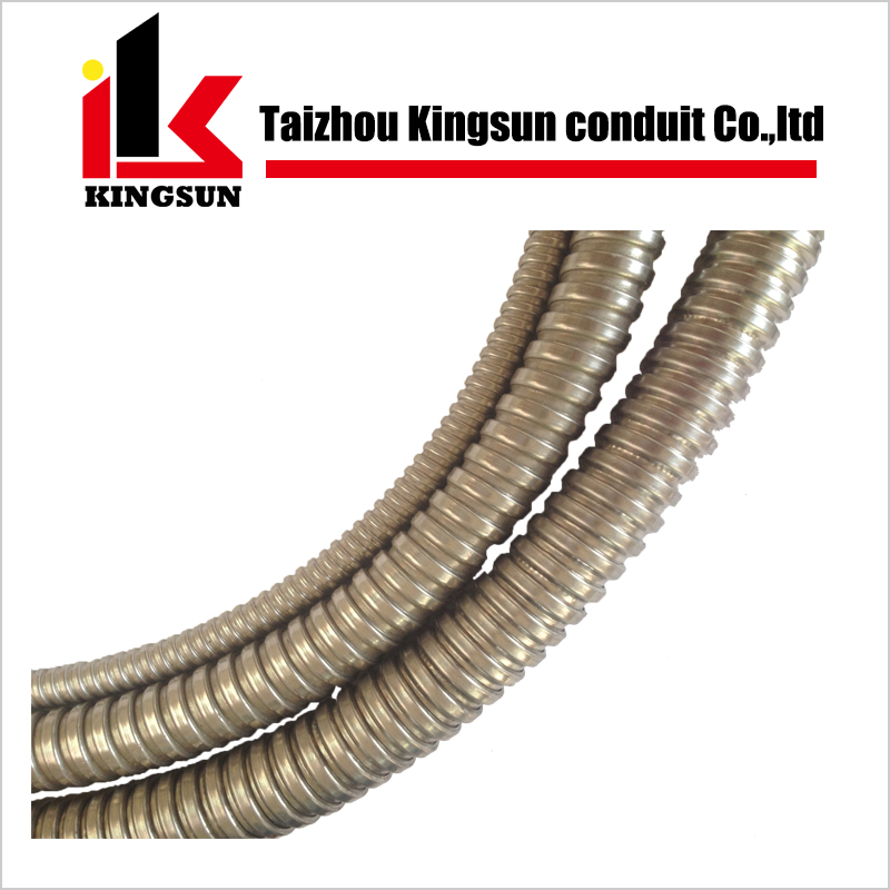 Stainless steel electrical conduit flexible metal tube