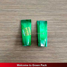 custom printed plastic back seal candy bar packaging bag/sweets plastic packaging/cookies plastic packaging bag
