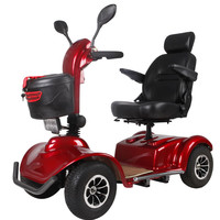 4 wheels big size 1000W electric mobility scooter with CE,150cc motor scooter trikes
