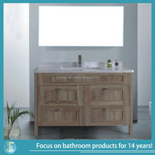 discount rattan chinese cheap bathroom vanity american style hot sale JS-BCP048