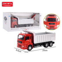 Zhorya wholesale 1:32 scale metal toy diecast engineering construction model auto dump truck car for children