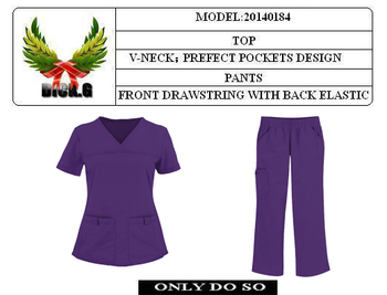 OEM-20140184 nurse uniform / medical scrub suits / scrub suits