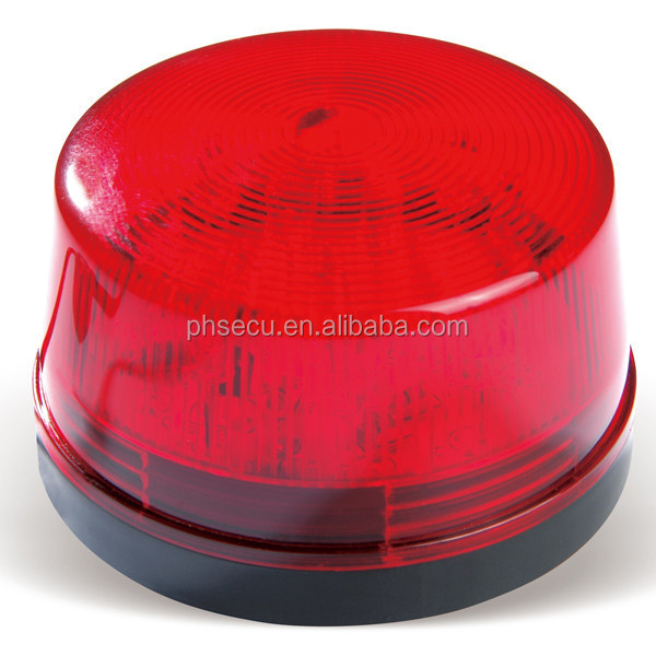 RED LED 12 Volt Security Alarm Strobe Signal Warning Siren Flashing Light