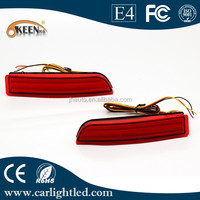Hot sale red car auto led parts rear bumper reflector tail brake fog light lamp for Toyota Highlander/Fortuner/Voxy/Mitsubishi