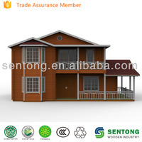 Two floors comfortable wooden prefabricated home STW127