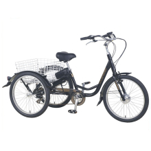 Hot sale cheap motorized advertising basket cargo bike dump tricycle