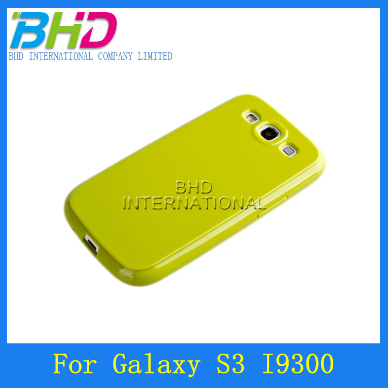 Solid Color Shiny TPU Durable Back case for Samsung GALAXY S3 I9300