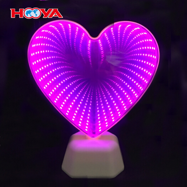 rainbow shape Infinity LED tunnel light double mirror night light