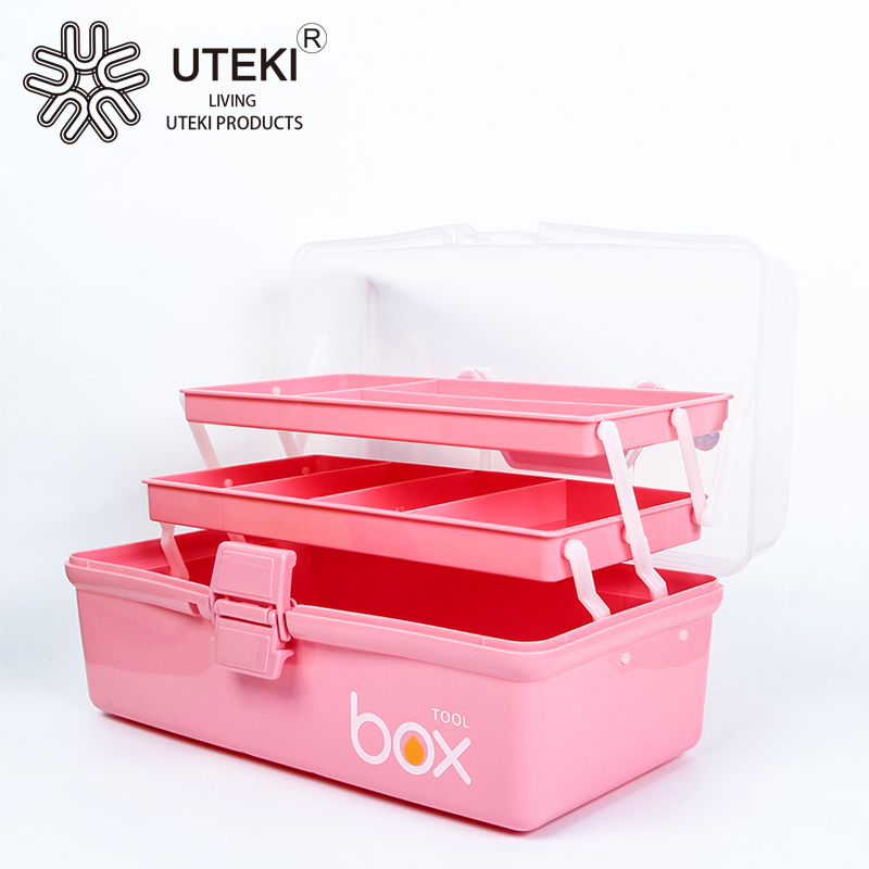 PP materail hard plastic tool case with handle