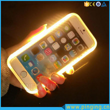 2016 new selfie light up phone case for iphone 6 led bulb with backup battery