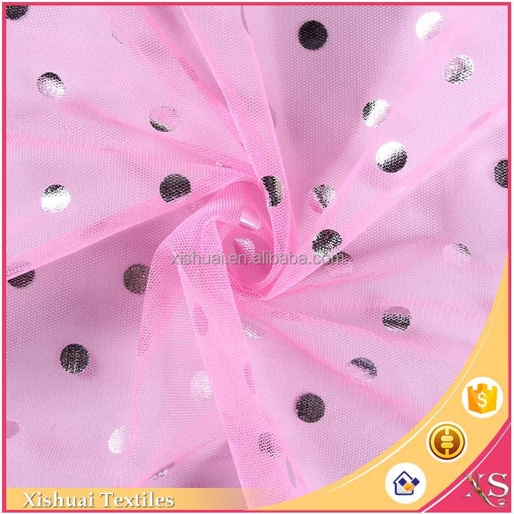 Ready made fabric supplier Fashion Hot foil dress fabrics for mother of bride