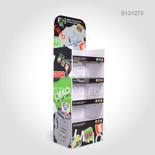 Custom POP Cardboard Display Stand, POS Floor Cardboard Products Display Rack, Paper Corrugated Display Shelf Unit