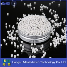 Low pressure material high density polyethylene transparent filler masterbatch