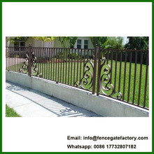 low price wrought iron estate fencing