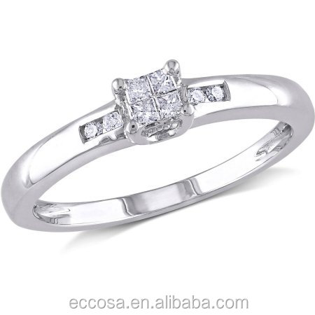 Wholesale price wholesale solid pure 925 sterling silver 2014 wedding ring 18k gold ring