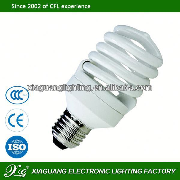 CFL E27 E14 LED Bulb Factory Low Price t3 half spiral energy saving lamps