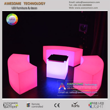 colour changing led glow cube bench for event