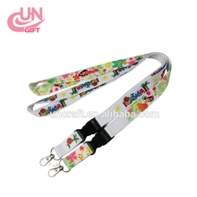 New Multi-Color Nylon Solid Lanyard Neck Strap Keychain for Badge ID Card Holder
