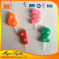 OEM Services supply type and Birthday Number Candle custom made