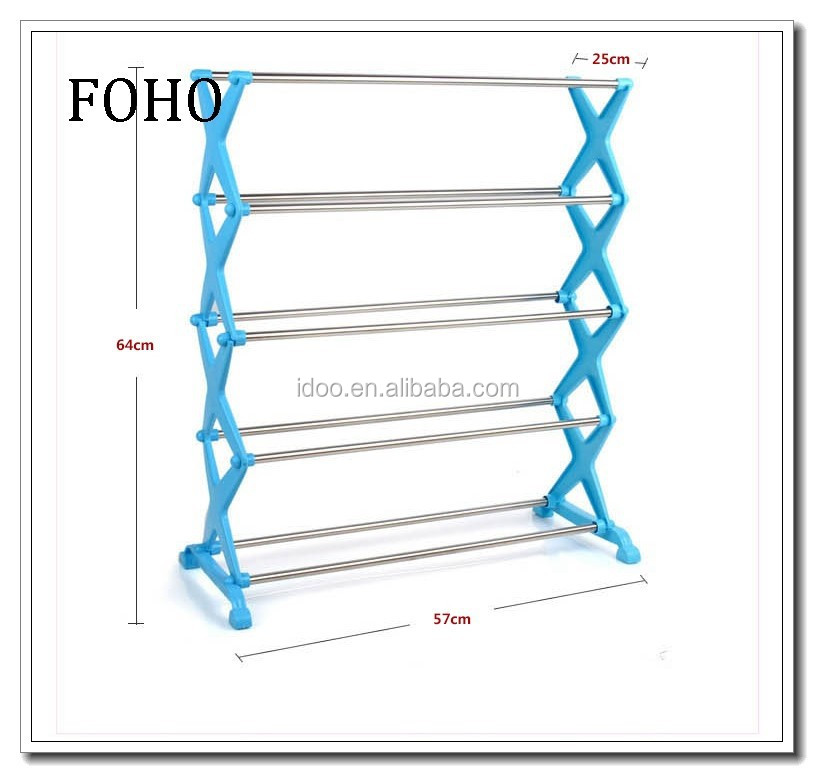 5 tire blue stackable front door unique shoe racks for men FH-SR00855