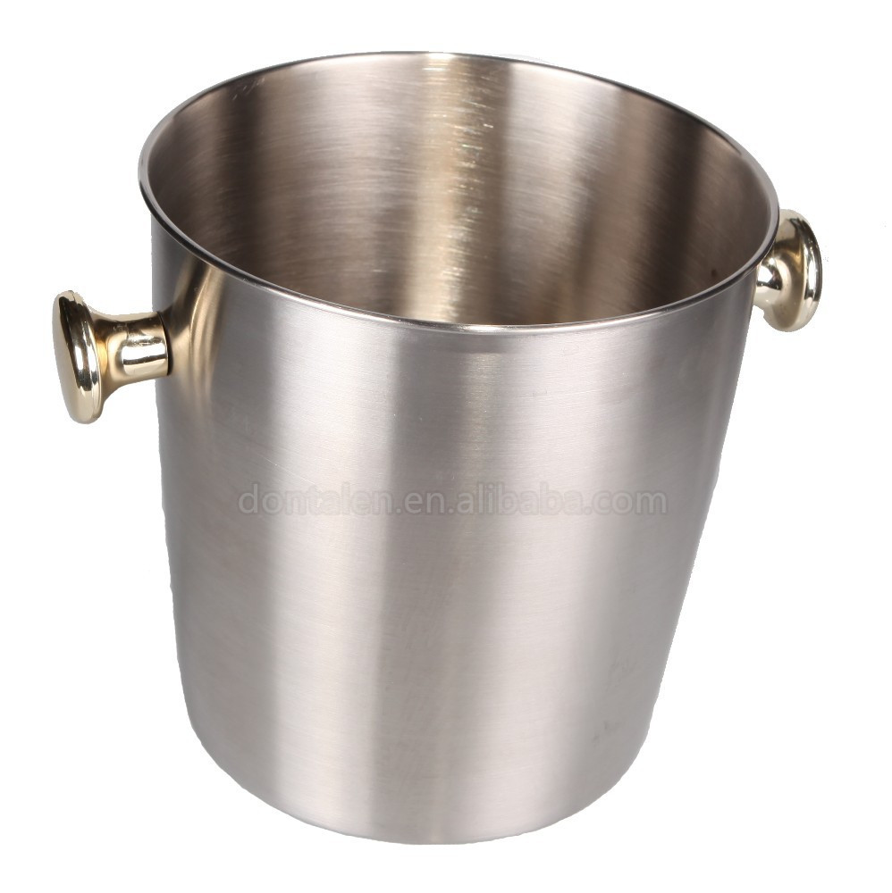 Stainless steel ice bucket champagne