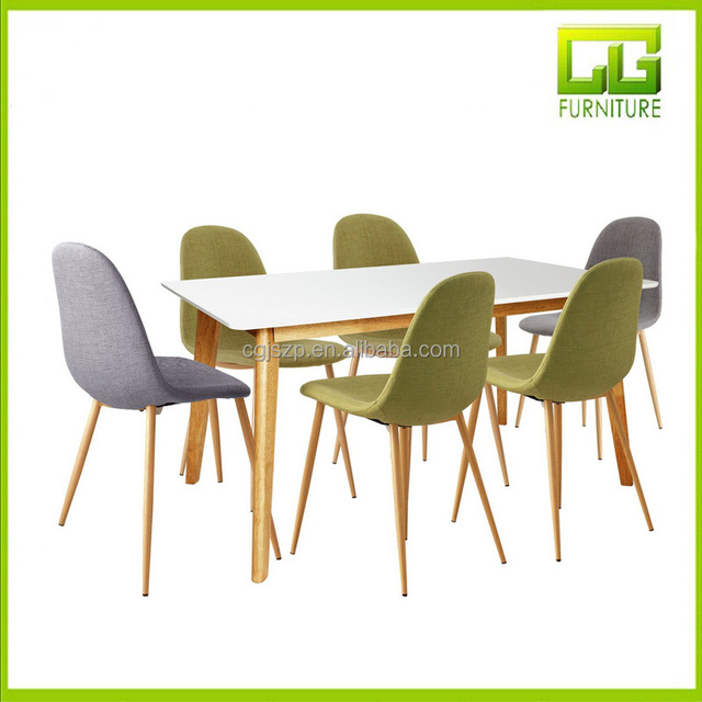 Elegant MDF dining table with 6 chairs dining room furniture dining set
